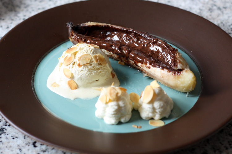 Banane chocolat barbecue recette de banane au chocolat au for Banane plantain au barbecue